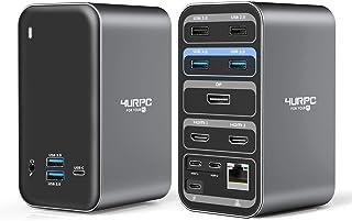 USB C Dual Monitor Docking Station for MacBook Pro Air, 4K Triple Display 13 Ports Laptop Docking Station for MacBook Pro ...
