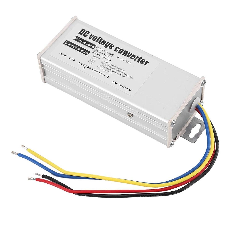 Aramox 電圧コンバータ、DC 20-30V変換12V / 15A 180W車の降圧型電圧コンバータパワーレギュレータモジュール