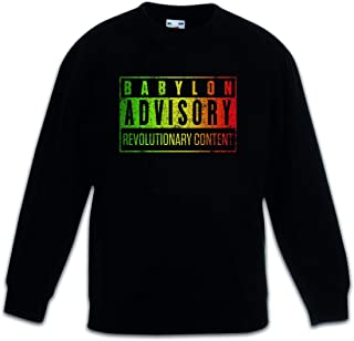 Urban Backwoods Babylon Advisory Sudadera Suéter para Niños Niñas Pullover