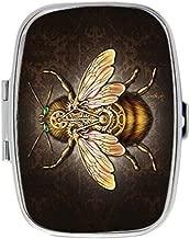 Steampunk Bee Custom Fashion Style Rectangle Pill Box Silver Jewelry Box,Coin Purse