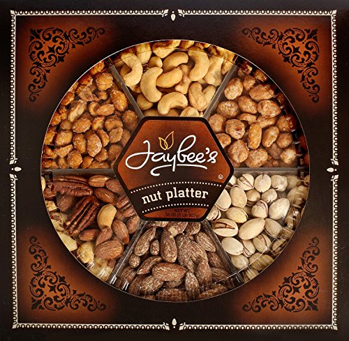 Jaybee's Nuts Gift Baskets - Corporate, Birthday, Christmas, Hanukkah, Holidays Gifts- Cashews, Smoked Almonds, Roasted Salted Mixed Nuts, Pistachios, Toffee & Honey Roasted Peanuts - Kosher