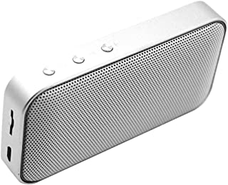 Baosity Portable Bluetooth Speakers Wireless Speaker, Super Bass Sound Bluetooth 4.2 - Silver