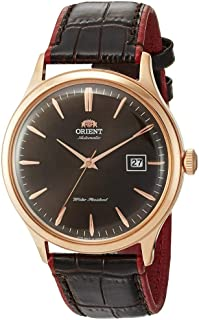 Orient Mens Automatic Watch, Analog Display and Leather Strap FAC08001T0