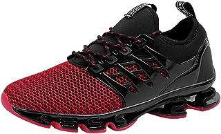 Scarpe da Ginnastica da Uomo Casuale Resistente Antiscivolo Fitness Sneakers(Rosso 41 EU)
