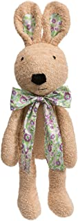 iBonny Plush Bunny Stuffed Animals Rabbits Toys with Floral Bowknot Adorable Doll Kids Tan 24 Inch