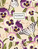 Victorian Pansies Notebook: Pansy Flowers Botanical Notebook Journal (8.5 x 11)