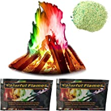 Colour Changing for Campfire Fireplace- 2 Packs Fire Colours Powder Colourful Flame for Campfire Fireplace (15g+25g)