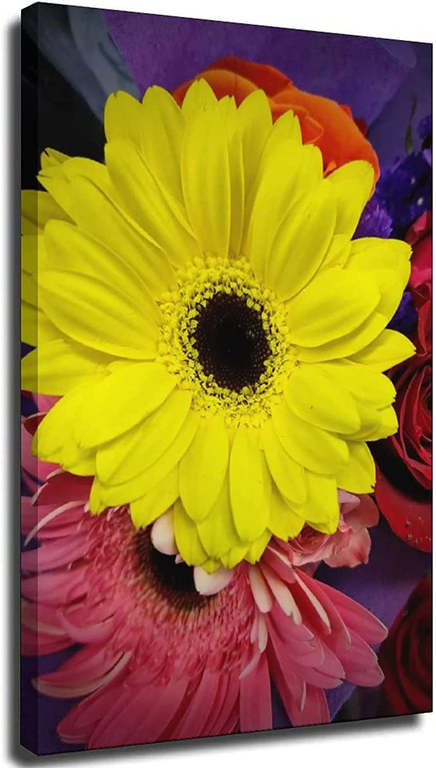 Friendship Flowers Abstract Canvas Wall for Room Mode Living Sales Art 25% OFF