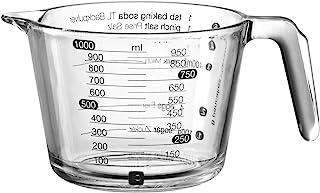 Glas-Messbecher Messkanne Karaffe Maßbecher Küchenhelfer 1000ml
