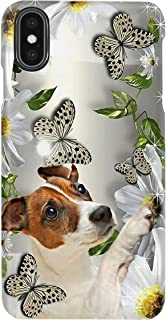 Jack Russell Terrier Daisy and Butterfly for iPhone 11 Pro Max - Glass Case with 3D Printed Design, Slim Fit, Anti Scratch, Shock Proof, Cover Compatible - Gifts for Friends and Family