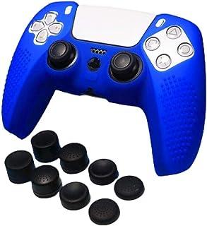 Ninguno / Marca Funda de silicona Piel antideslizante para controlador PS5 X 1+ Empuñaduras de pulgar FPS PRO X 8 Siutable...