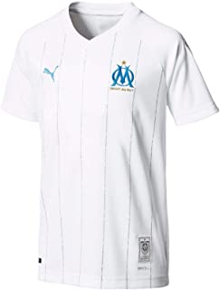 PUMA 2019-2020 Olympique Marseille Home Football Soccer T-Shirt Jersey (Kids)