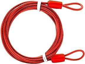 Fiets kabelslot, Double-Loop gevlochten staal Flexibele Lock Kabel, Sterke Staal Anti-Diefstal Bike Chain Lock Fiets Secur...