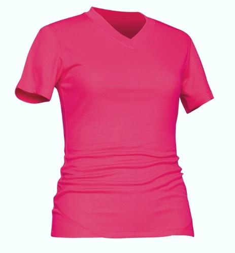 Terramar Helix Mountain Damen-T-Shirt, kurzärmelig, Hot Pink, XS