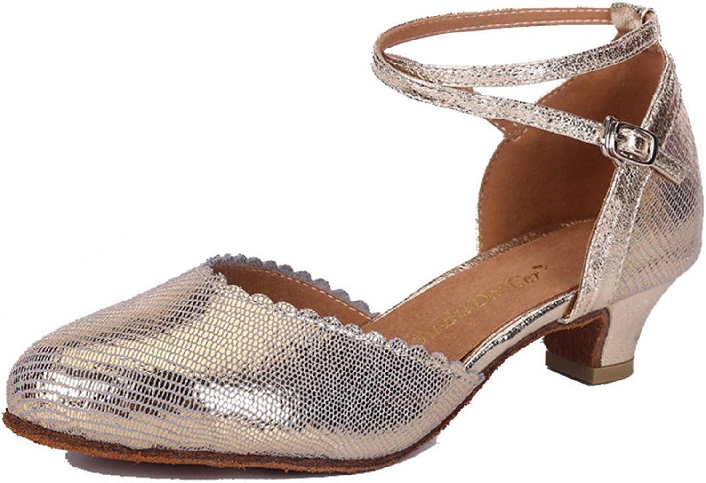 WXMDDN Latin Dance shoes Light Blond Dance shoes 3.5cm Outdoor Dance shoes Leather Dance shoes Soft Floor Jazz Dance Dance shoes