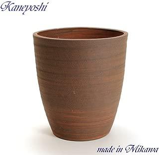 鉢 三河焼 KANEYOSHI 【日本製/安心の国産品質】 陶器 植木鉢 三河焼 PR ブラウン 10号