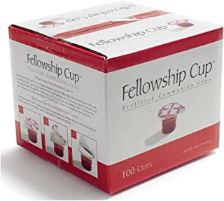 prefilled communion cups with wine