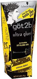 got2b Ultra Glued Invincible Styling Gel 6 oz by Got2b