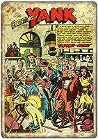ファイティングヤンクコミックブリキ金属サインバーレトロ壁の装飾ポスターホームクラブ居酒屋壁ドア飾りアルミサイン