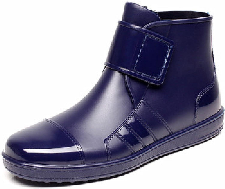 Mode Velcro Männer Regen Stiefel Freizeit Studenten Plus Kaschmir Kurze Röhre Stiefel Niedrige Hilfe Südkorea Rutschfeste Schuhe,Blau-Single-39  | Mama kaufte ein bequemes, Baby ist glücklich