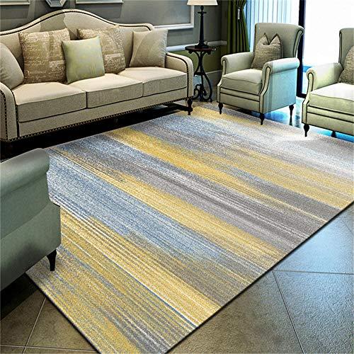 WQ-BBB Weich schalldicht Bunte graue gelbe Blaue abstrakte Artdekoration Teppich draußen super weich kibek 160X230cm