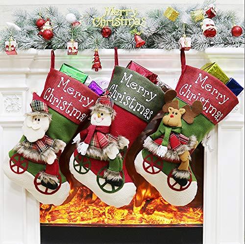 Christmas Supplies Christmas Socks Christmas Ornaments Pendant Candy Christmas Socks Socks 3pcs