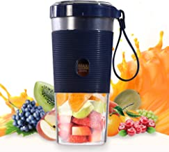 Portable Personal Smoothie Blender, Small 10oz Mini Personal Portable Cordless Juicer, Travel Blender With USB Rechargeabl...
