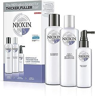 Nioxin Trial Kit de 3 Pasos Sistema 5 - Tratamiento para Cabello Tratado con Químicos Ligeramente Debilitado (Champú 150 m...