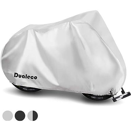 Dualeco 自転車カバー 子供用 キッズ サイクルカバー 防水 210D 厚手 丈夫 撥水加工UVカット防犯 防風 収納袋付 破れにくい 24インチまで対応