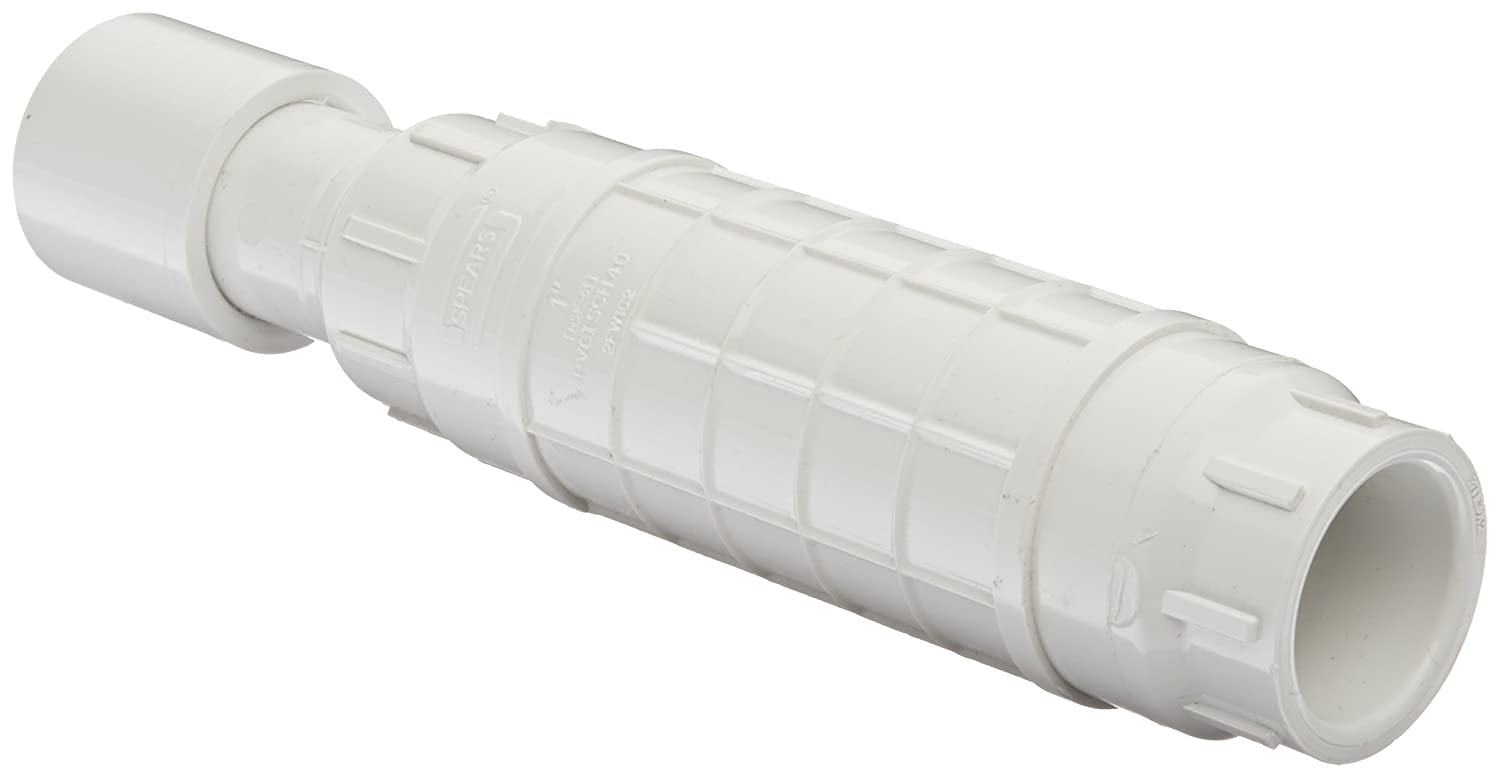 White Repair Coupling with EPDM O-ring 1 Socket Spears S119 Series PVC Pipe Fitting