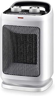 Termoventiladores y calefactores cerámicos Calefactor Portátil Eléctrico Cerámica Ventilador 1500W, Protección contra Sobrecalentamiento y Vuelco, para Hogar y Baño