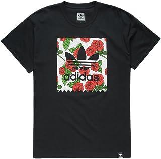 adidas Print Rose Blackbird T-Shirt, Black, Medium