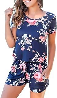DressUWomen High Waist Velour Deep-V Neck Straps Jumpsuit Pajamas