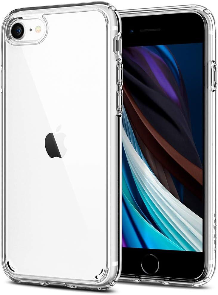 Spigen Ultra Hybrid [2nd Generation] (Anti-Yellowing PC Back) Designed for iPhone SE 2020 Case/Designed for iPhone 8 Case (2017) / Designed for iPhone 7 Case (2016) - Crystal Clear…