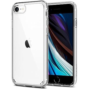 Spigen iPhone SE 用 ケース [第2世代] / iPhone8 / iPhone7 対応 新型 全面 クリア 米軍MIL規格取得 耐衝撃 すり傷防止 ワイヤレス充電対応 SE2 アイフォンSE (2020年モデル) アイフォン8 アイフォン7 カバー iphonese第2世代 ケース ウルトラ・ハイブリッド 042CS20927 (クリスタル・クリア)
