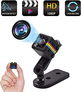 Spy Camera Wireless Hidden Camera, Mini Cop Cam As Seen On TV, Smallest Body Cam, Covert Small Security Camera for Car, Nanny Cam/Housekeeper with Night Vision and Motion Detection, Built-in Battery