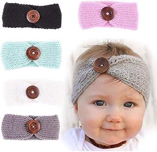Flyme 5Pcs Baby Knitting Headbands Head Wrap Crochet Hair Band