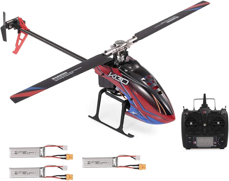 punto de venta de la marca Goolsky- WLJuguetes XK K130 RC Helicopter 2.4G 6CH Sin Sin Sin Escobillas 3D6G Flybarless Compatible con FUTABA S-FHSS Stunt Helicopter Juguete con 3 Baterías  venta directa de fábrica