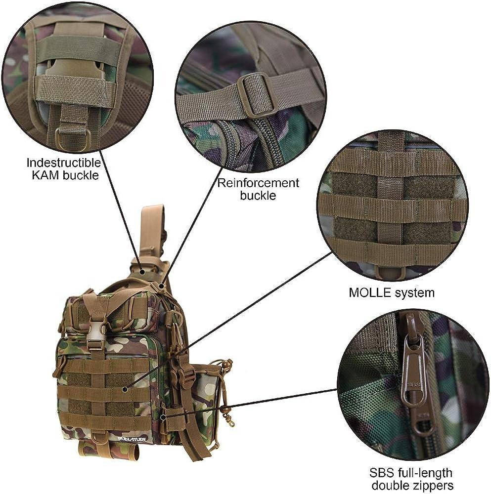 Mini Sac /à Dos de Fusil pour Homme Sac /à bandouli/ère /à Une /épaule pour Trekking Randonn/ée P/êche Sac /à Dos Tactique RUNATURE Sacs /à bandouli/ère