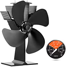 GALAFIRE [ 2 Years ] Eco Heat Powered Wood Stove Fan for Gas/Pellet/Log/Wood Buring..