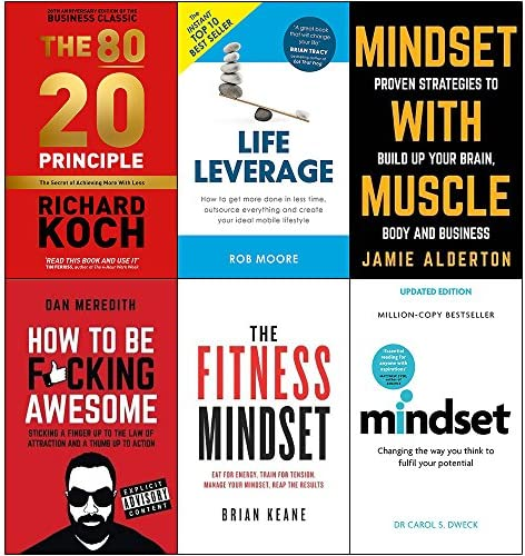 80 20 principle life leverage mindset with muscle how to be fucking awesome fitness mindset product image