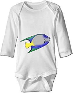 YSKHDBC Baby Girl Clothes The Blue Fish Long Sleeve Onesies Romper Home Outfit