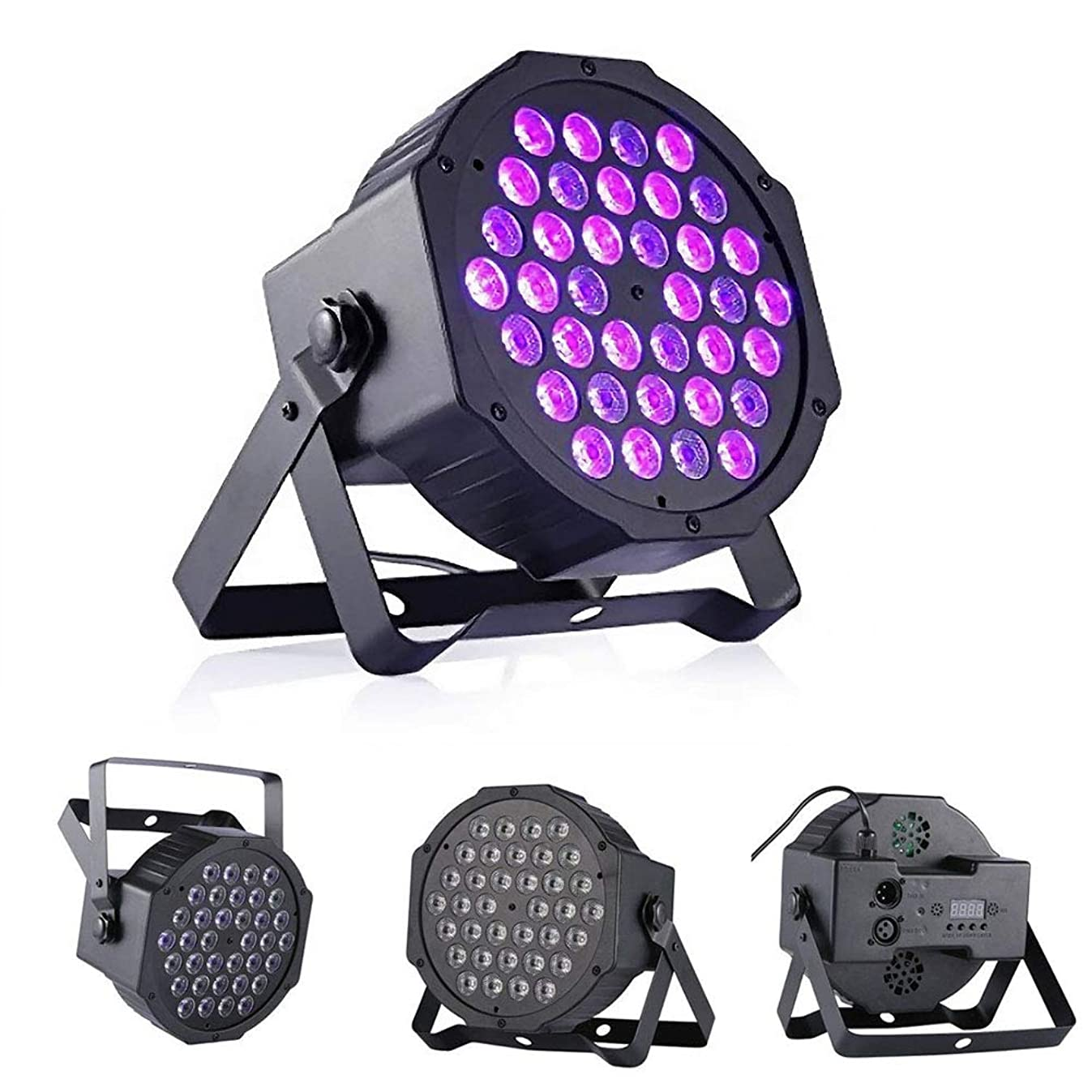 72W Black Lights, DeepDream 36LED UV Blacklight Stage Spotlight with Remote Control