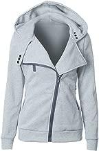 Tomsweet Women Autumn Spring Winter Hooded Coats Side Zipper Hoodies Casual Sweater Long Sleeve Pullover