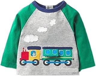 LNGRY Baby Clothes,Toddler Kids Girls Boys 2019 Spring Children Cartoon Train Smoke Pattern T-Shirt Top Blouse