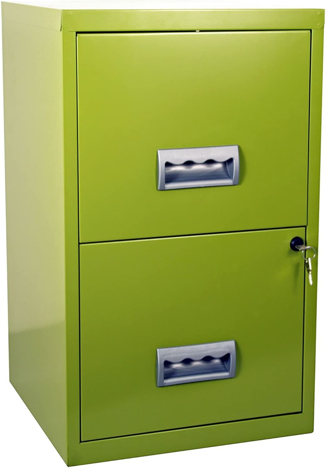 Pierre Henry Metal 2 Drawer Maxi Filing Cabinet A4 - color  Lime Green