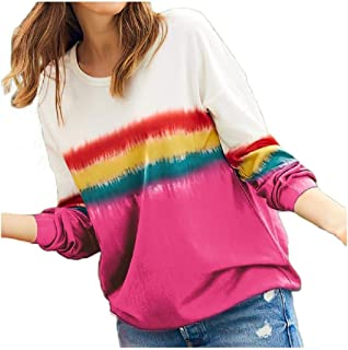 Coolred Womens Long-Sleeve Lounge Floral Tribal Outwear Rainbow Tunic Top