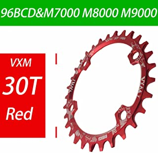 Propenary - Bicycle 96BCD Crank 30T Chainwheel Aluminum Alloy Round Chain ring Chainwheel Road Bicycle Chain ring for M7000 M8000 M9000 [ Red ]
