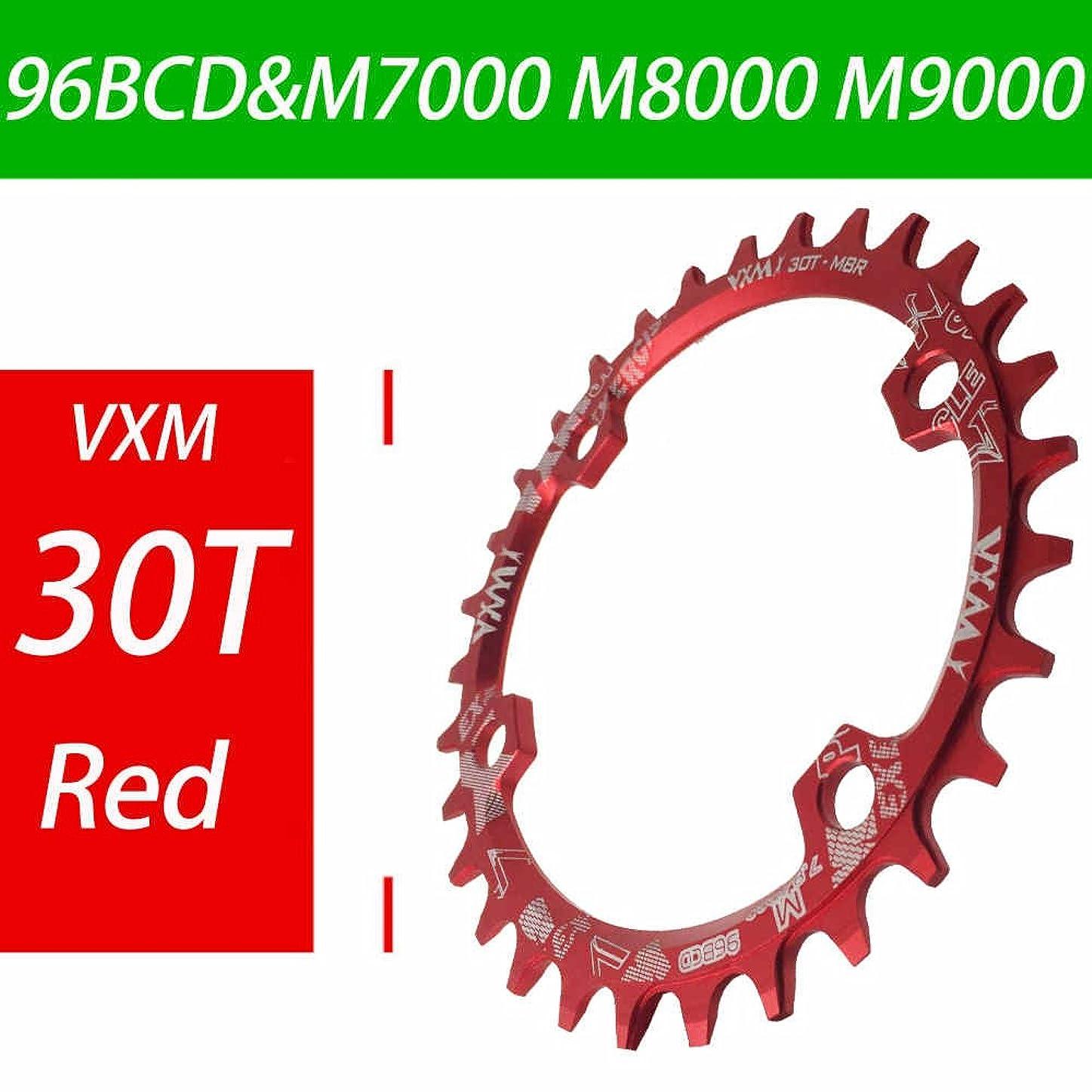 韓国ヒステリックアリスPropenary - Bicycle 96BCD Crank 30T Chainwheel Aluminum Alloy Round Chain ring Chainwheel Road Bicycle Chain ring for M7000 M8000 M9000 [ Red ]