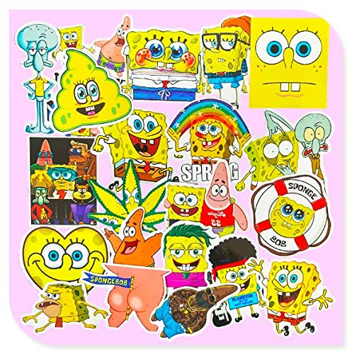 Spongebob Stickers 22 Pieces Of Guitar Notebook Computer Tablet Phone Case Luggage Decoration Stickers